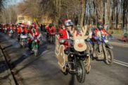 Zlot Mikołajów na motorach przy Zalewie Nowohuckim