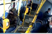 Niszczył siedzenia w autobusie